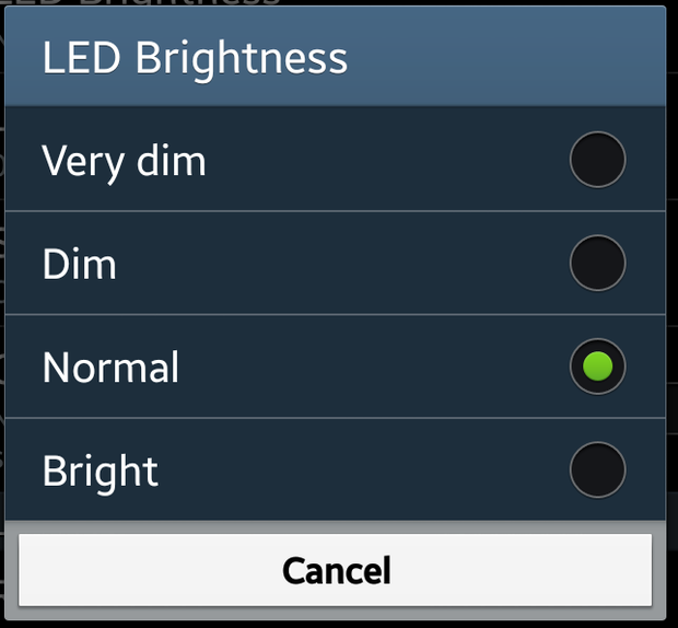 advanced settings brightness