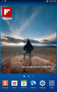 android flipboard widget