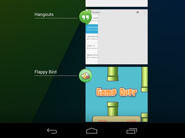 android recent apps