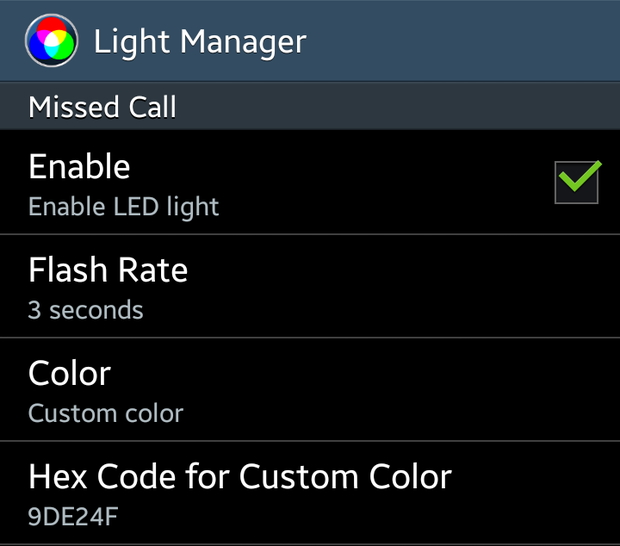 Use Light Manager for complete control over your notification light