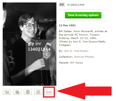 how to get images from getty for free