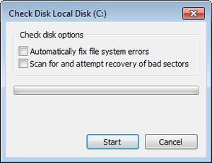 check disk win7