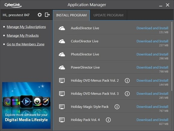 cyberlink director suite live1