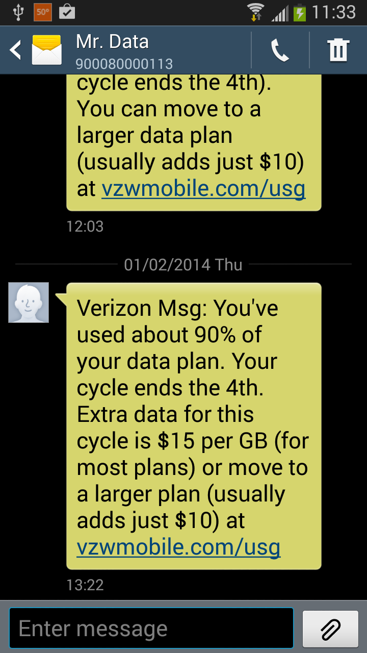Text Message Alerts Can Help You Avoid Data Surcharges