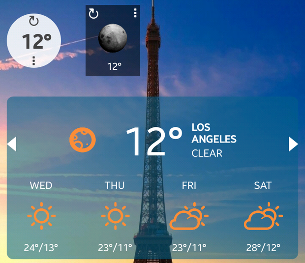 eye in the sky weather widget