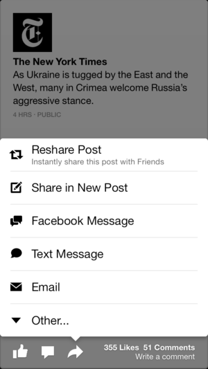 facebook paper update