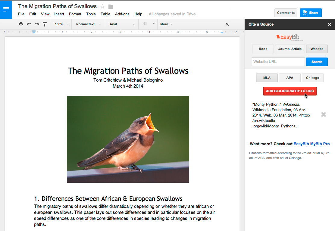 how to make a news article in google docs