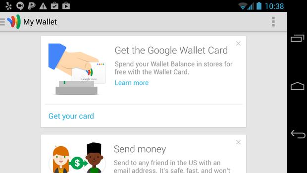 google wallet order card