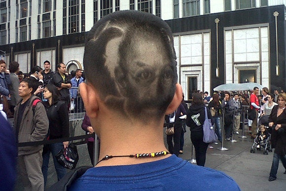 Hair art Steve Jobs