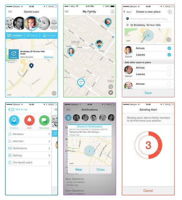 HereO app screenshots