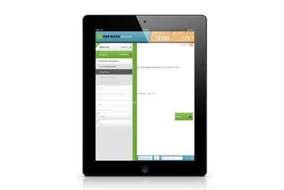 H&R Block iPad 2013