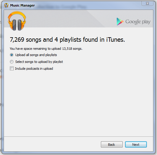 google play music manager itunes