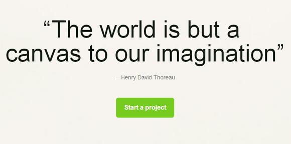 kickstarter homepage quote