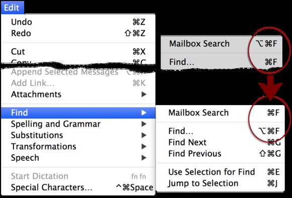 mail menuchange