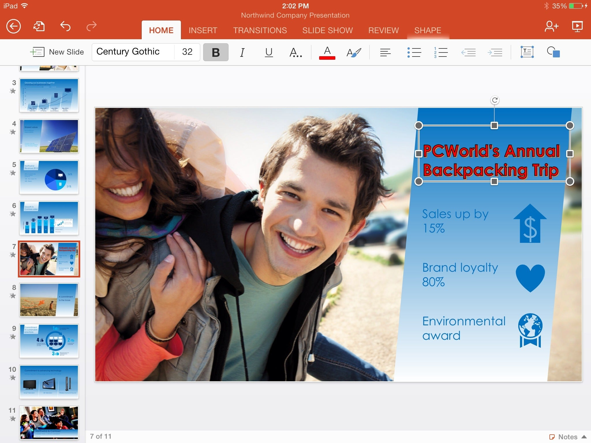 office for ipad powerpoint edit