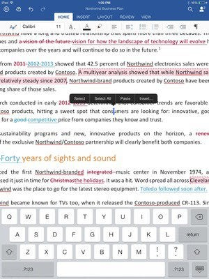 office for ipad word highlight 2