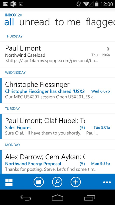 microsoft launches outlook app for android declutters your inbox pcworld