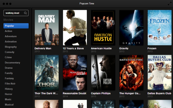 Popcorn time transforms movie torrents into netflix techhive for American cuisine film stream