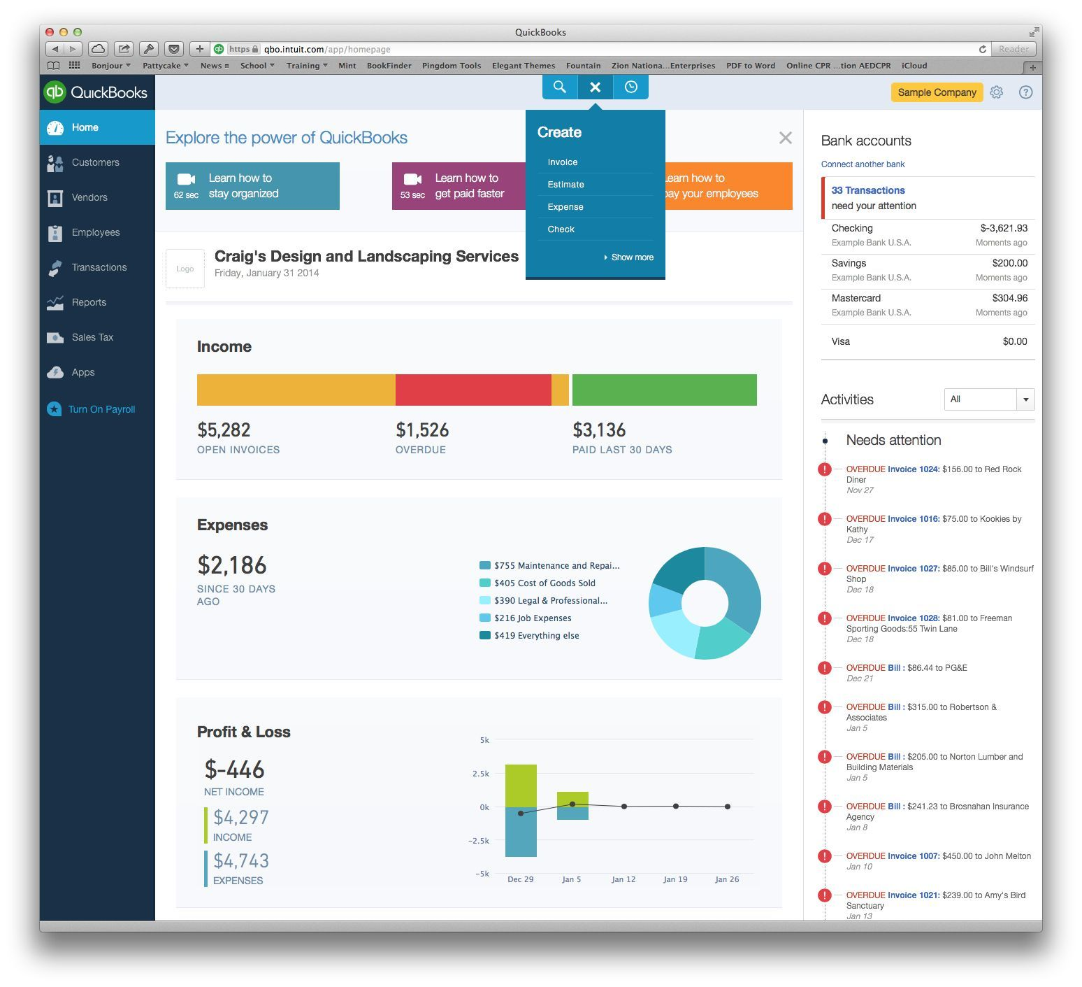 The best online accounting apps macworld quickbooks online looks and works a lot like the desktop version of the app only better ccuart Choice Image