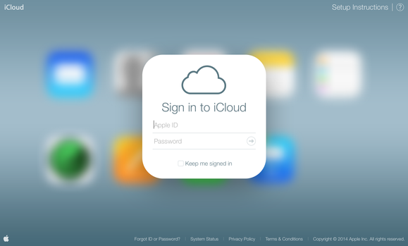 iCloud interface design