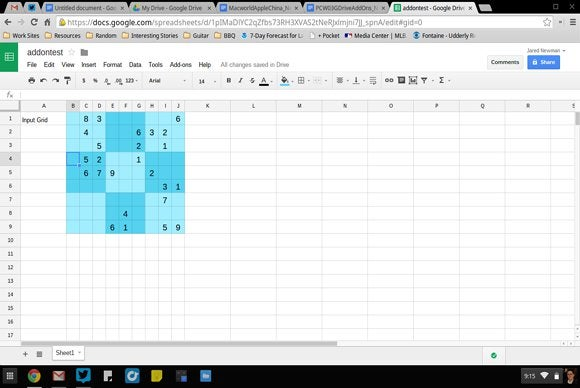 sheets sudoku