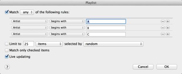 smart playlist