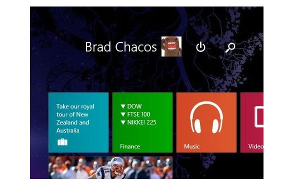 start screen buttons windows 81 update