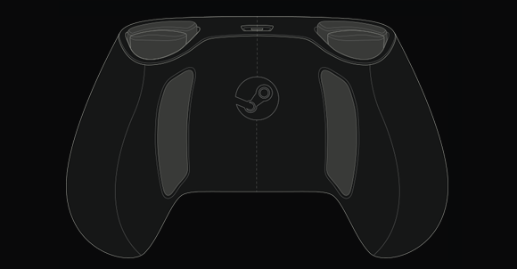 steam controller rear view