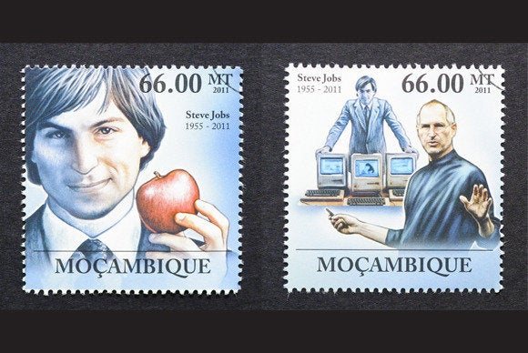 Steve Jobs stamps Mozambique