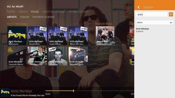 vlc windows 8 music