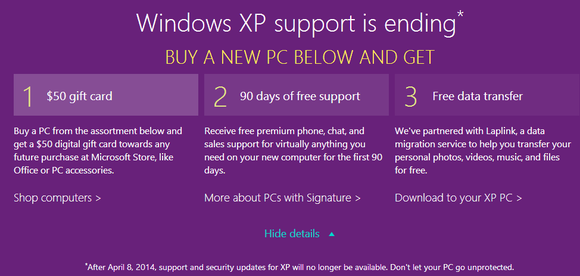windows xp 50 gift card offer