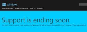 windowsxp warning