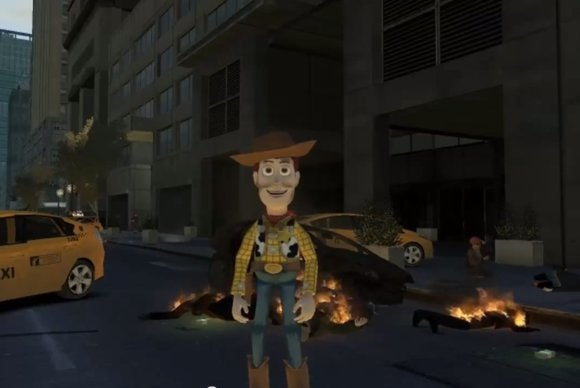 Woody walks Liberty City