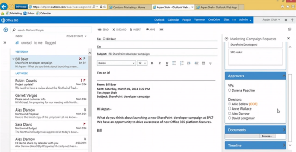 yammer demo email