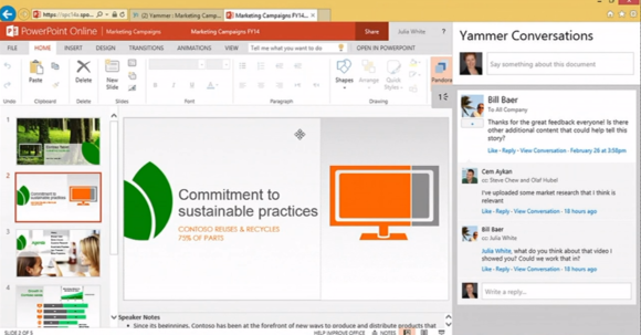 yammer demo social integration