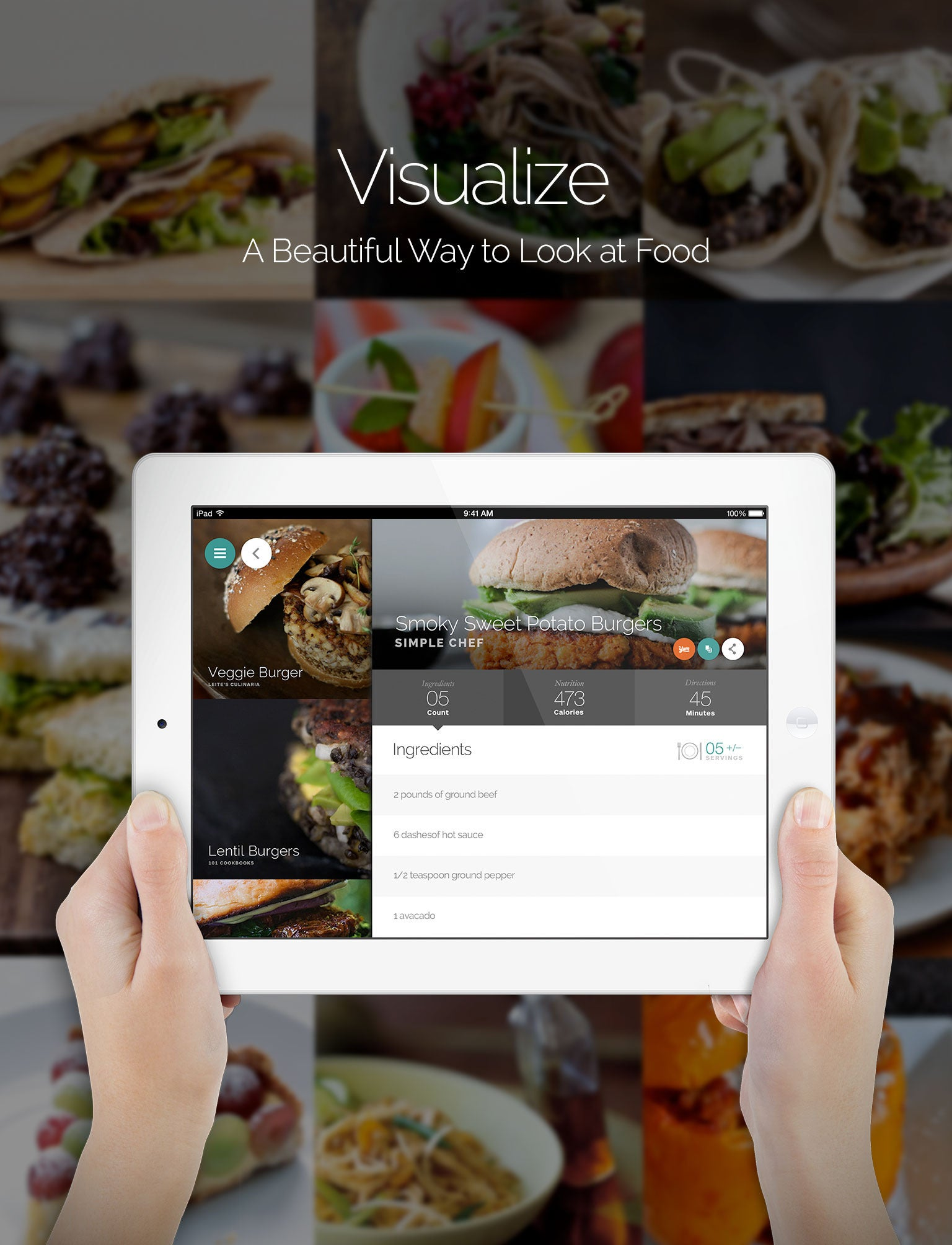Smart recipe app yummly expands its palate launches on for Tile layout app
