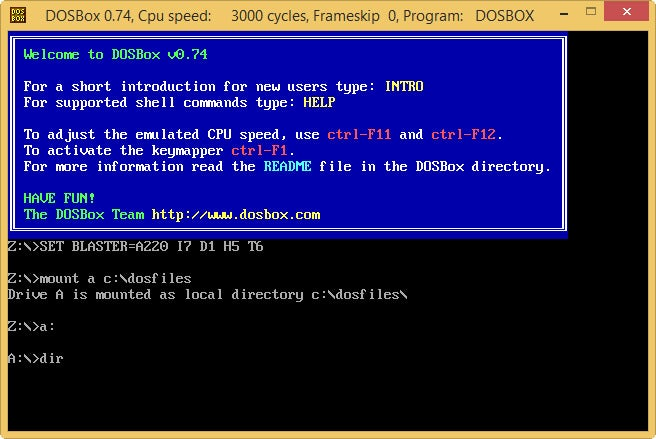 How to run DOS programs in a current version of Windows