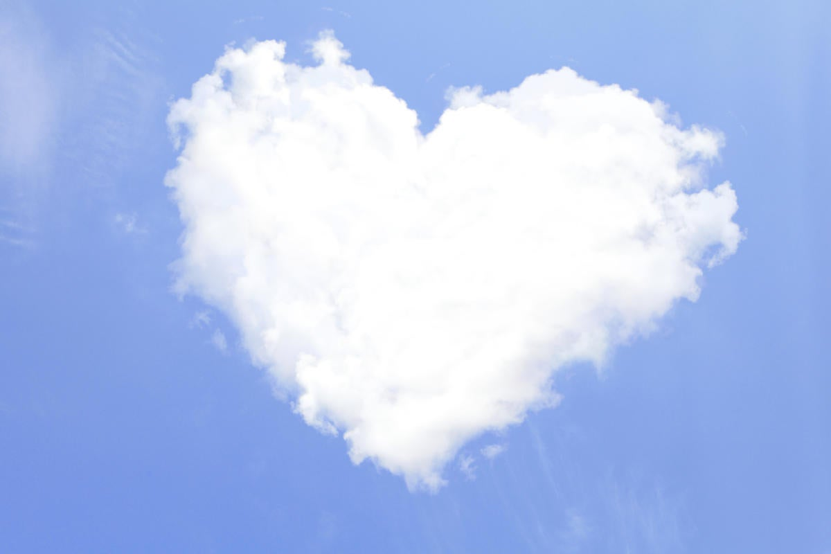 heart-shaped cloud