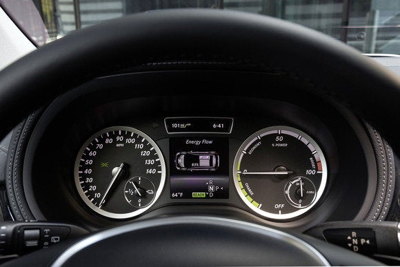 2014 mercedes benz b class electric drive instrument cluster detail april 2014
