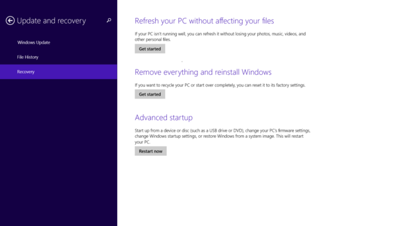 4 refresh or reset windows 8