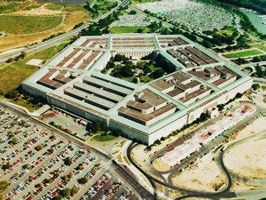 aerial view of pentagon government security dv1282020