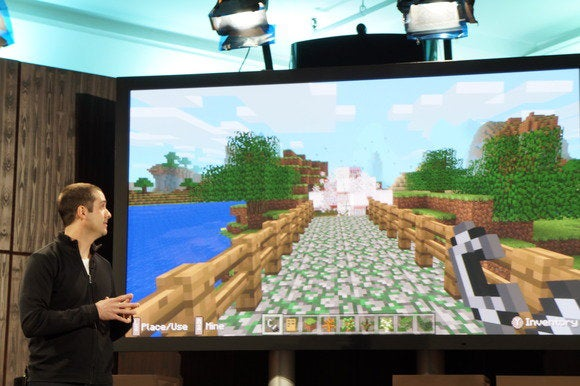 Amazon Fire TV Minecraft demo April 2 2014