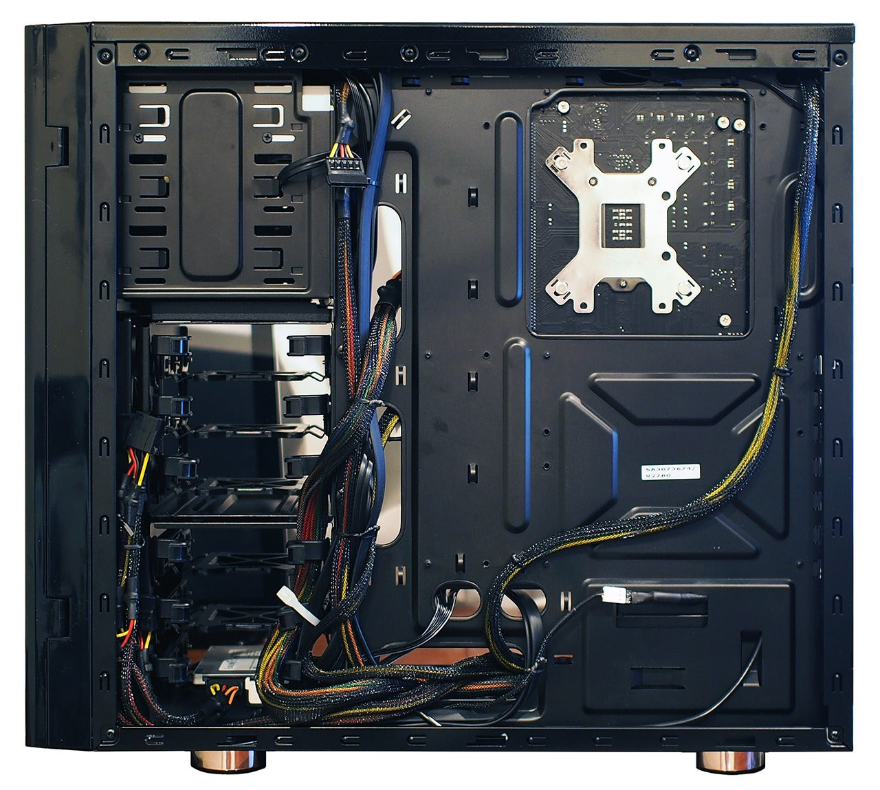 Uncategorized Computer Cable Management Tips how to organize cables in your pc pcworld a behind the motherboard glimpse at cleanly cabled system