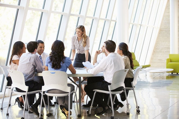 business people having a meeting in modern office