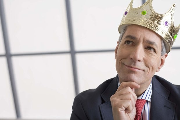 businessman with crown thinking 86512720