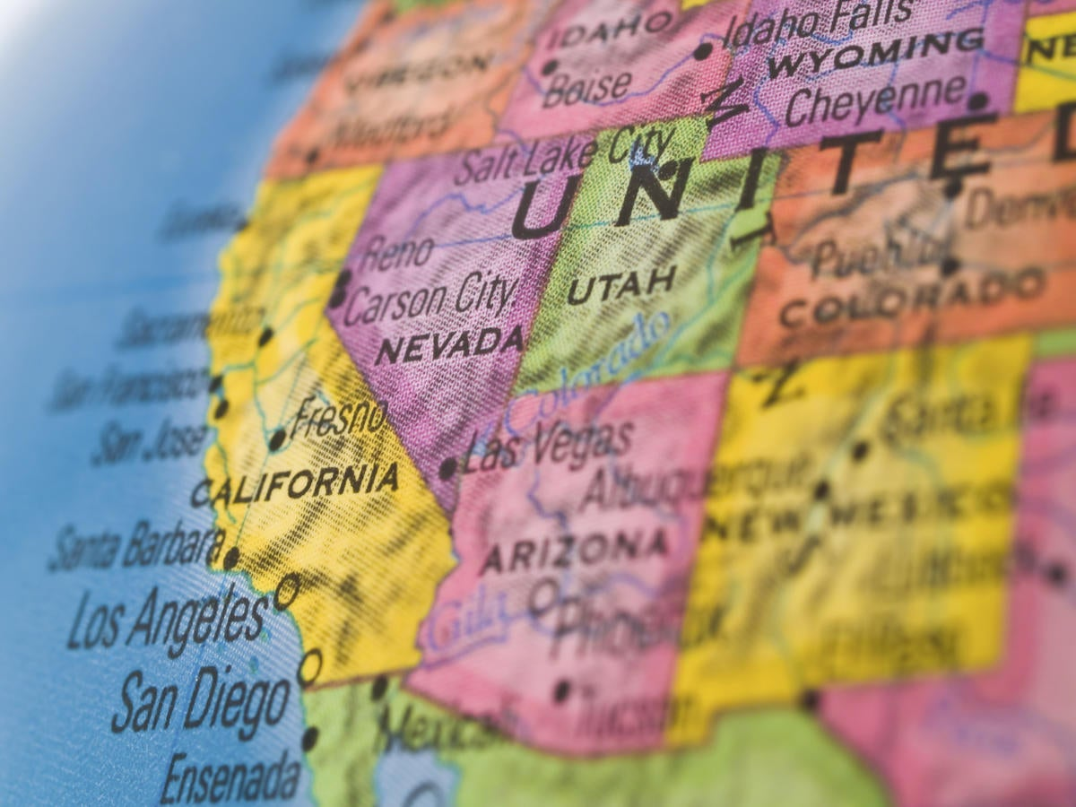 california on map of western usa 97656788