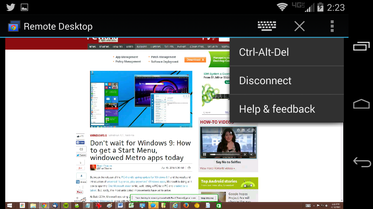 Hands-on: Chrome Remote Desktop app for Android makes