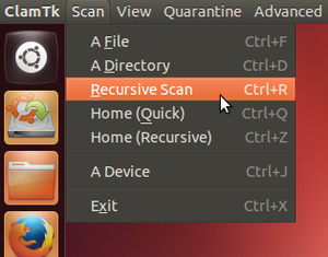 clamav start recursive scan