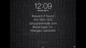 custom info lock screen poster
