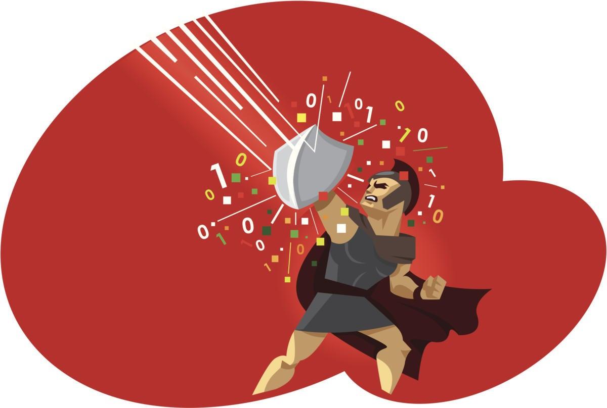 digital warrior fight against virus computer 155895292